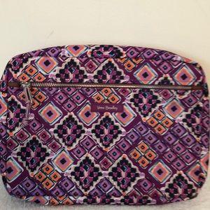 "Vera Bradley cosmetic bag 12"" x 8 1/2"" EUC"